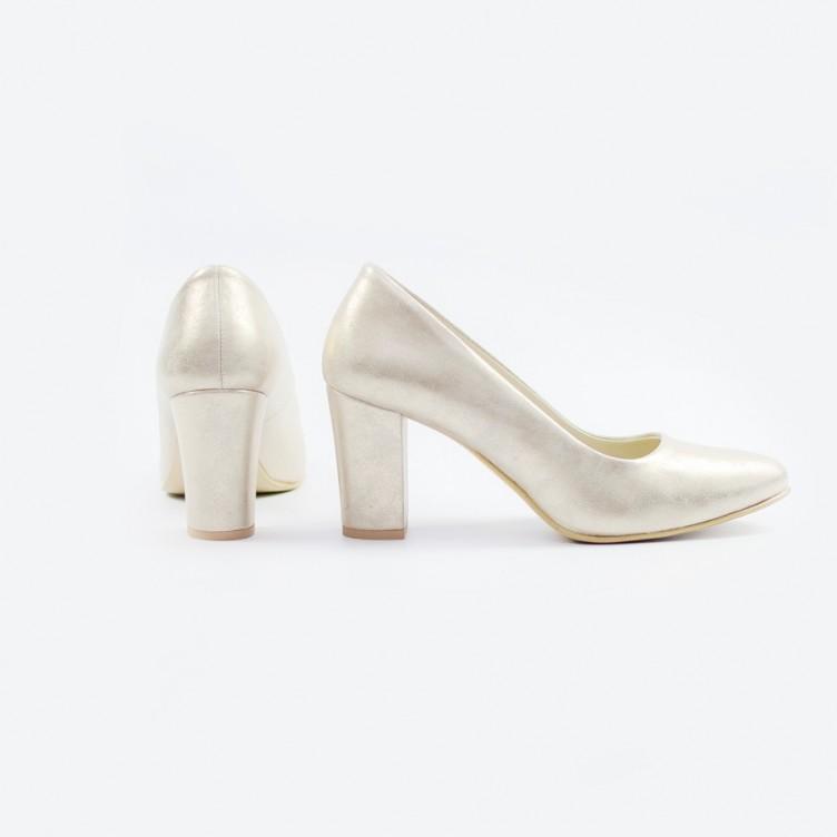 Czzółenka złoty dubaj ślubne bardzo wygodne z obcasem pod kolor buta.